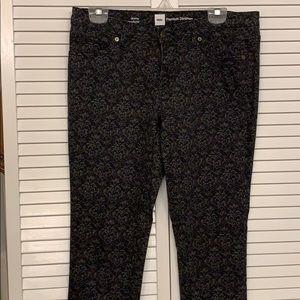 Mossimo Premium Black paisley print jean